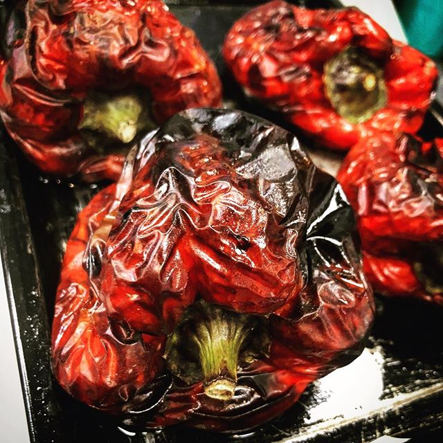Check out these beauties. Freshly roasted this morning at Rockpool Cafe for our salad selection.  Here are five reasons to increase your red pepper consumption:  1. Red peppers contain more than 200 percent of your daily vitamin C intake. Besides being a