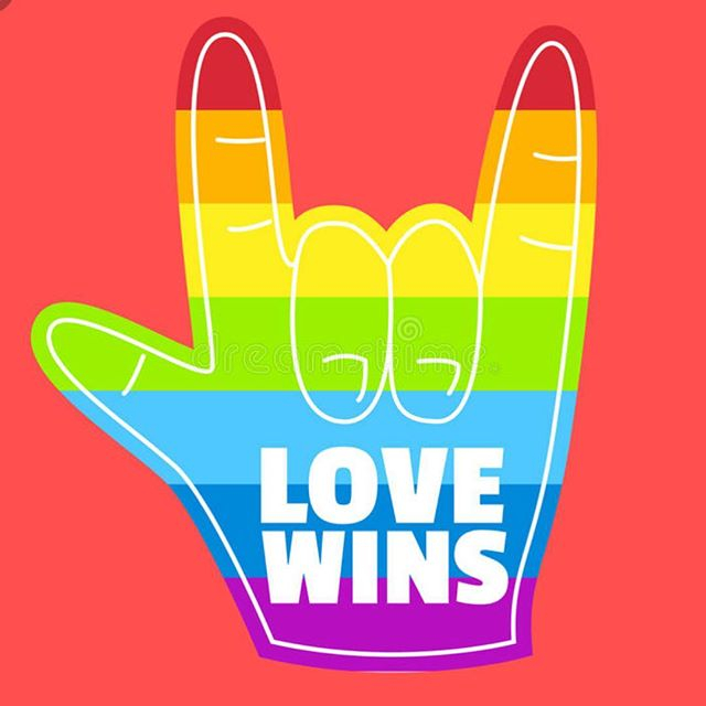 Yessss! To everyone celebrating Pride this weekend. #lovewins #