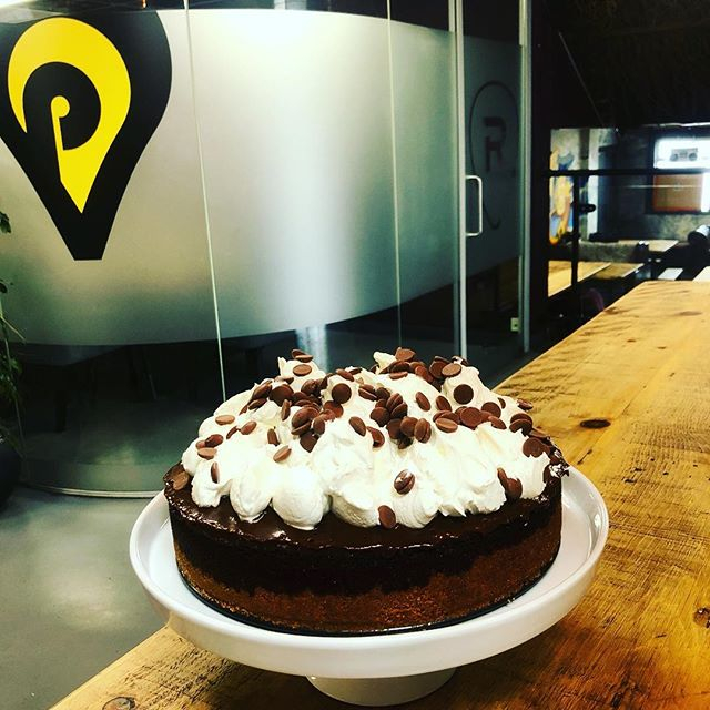 If you are in and around @productionparkuk today you should rapidly make your way to our cafe.... MISSISSIPPI MUD PIE. This baby is going to sell fast. You are lucky that it's not in my tummy already